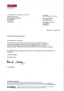 Die Einladung der FOCUS MONEY Chefredaktion.