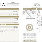 GIA-Zertifikat für den Halbkaräter-Diamanten Nr. 2