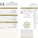 GIA-Zertifikat für den Halbkaräter-Diamanten Nr. 1