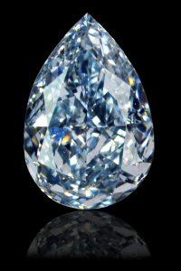 Blauer Diamant auf schwarzem Untergrund 1000 x 667px