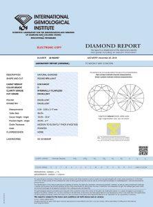 """Das IGI Diamantenzertifikat. Top-Qualität mit """"Brief und Siegel""""!"""