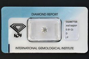 Die Nr. 2 der beiden quasi identischen Top-Anlagediamanten. Jeder besitzt sein eigenes Zertifikat!