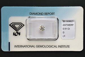 Halbkaräter-Anlagediamant Nr. 1 in Top-Qualität, sicher versiegelt!