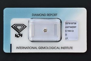 Diamant-Brillant 0,193 Karat Farbe D Reinheit IF IGI 337819738 in IGI Versiegelung