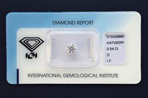 Ein Halbkaräter-Anlagediamant in Top-Qualität! Sicher versiegelt.