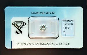 Ein großer Diamant, quasi ein Einkaräter, aber besonders preiswert!
