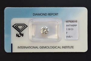Diamant-Brillant 1,30 F VVS1 IGI 407926315