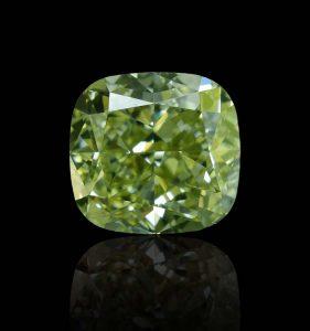 Schön, wertvoll und extrem selten! Ein grüner Einkaräter Fancy-Diamond mit GIA-Zertifikat und Lasergravur.
