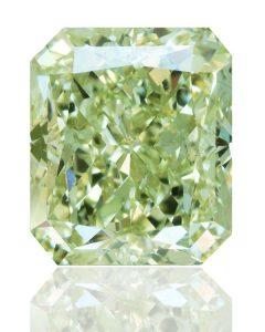 Dieser Fancy-Diamant macht Eindruck! Mit seiner schönen grünen Farbe und seiner Größe/Gewicht von 1,42 Karat fällt er auf.