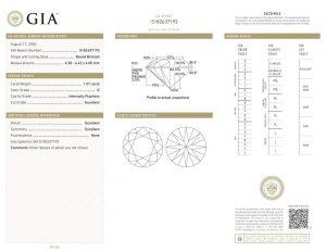 GIA-Zertifikat 5182637193 Diamant-Brillant 1,01 Karat Farbe D Reinheit IF Schliff, Politur und Symmetrie 3x Exzellent keine Fluoreszenz