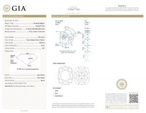 Das offizielle GIA-Zertifikat! Weltweit geschätzt und anerkannt. Die Lasergravur gibt zusätzliche Sicherheit!