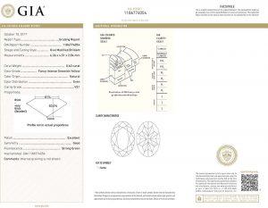 """Mit einem Diamanten-Zertifikat des weltbekannten Diamanteninstituts GIA. Sicherheit mit """"Brief und Siegel""""!"""