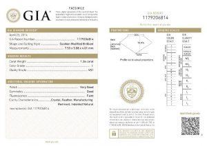 Sicherheit durch das GIA-Zertifikat und die Lasergravur der Zertifikatsnummer des Diamanten (keine Verwechselung/Vertauschung möglich).