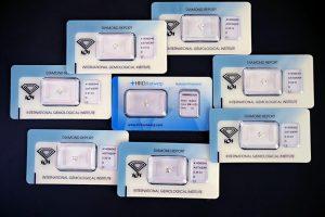 Große Auswahl an Drittelkaräter Anlagediamanten