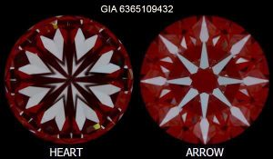 Hearts and Arrows von Diamant 2,03 Karat GIA 6365109432