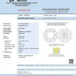 Das IGI Diamantenzertifikat für den Diamanten Nr. 2.