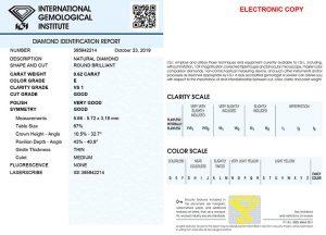 """Kaufen Sie Diamanten  möglichst immer nur mit einem international anerkannten Zertifikat. IGI - damit sind Sie """"auf der sicheren Seite""""."""