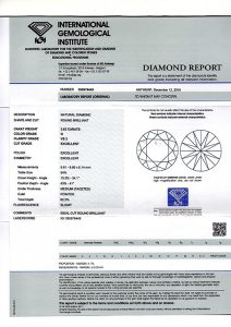 IGI Zertifikat 395979449 Diamant-Brillant 3,62 G VS2