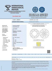 IGI Zertifikat 407930118 Diamant-Brillant 2,01 G IF