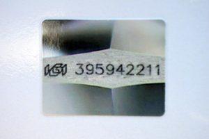 Im Originalzertifikat befindet sich ein Foto der Lasergravur!